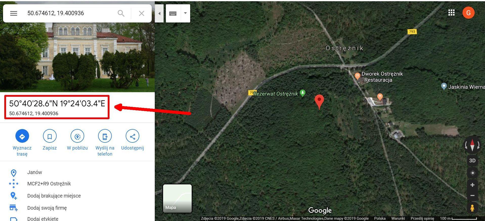 Google Maps - Jak odnaleźć pozycję GPS