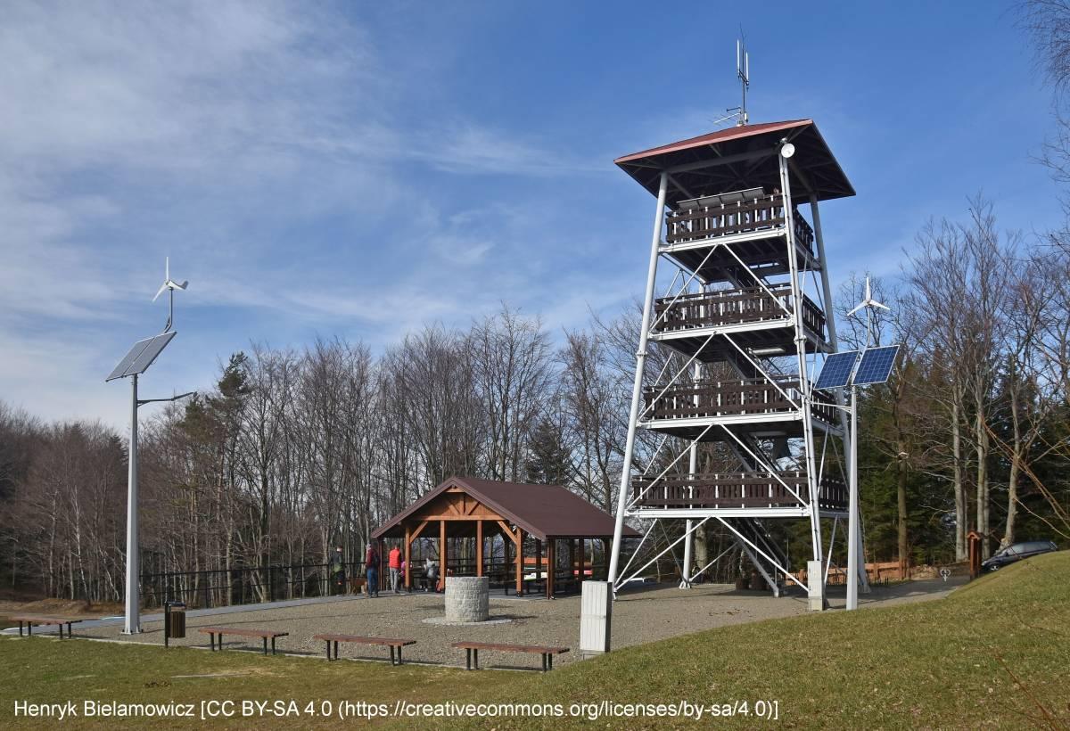 Wieża widokowa w Paśmie Brzanki